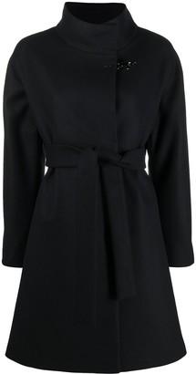 Fay Front Tie Wool Coat