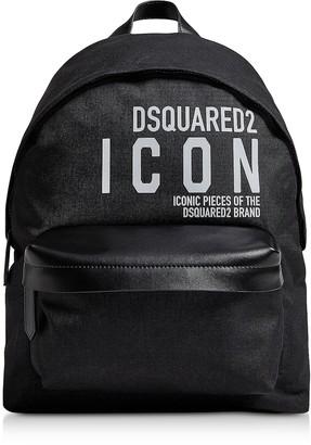 DSQUARED2 New Icon Black Nylon Men's Backpack