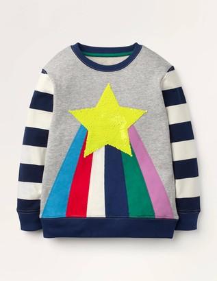 Cosy Sequin Rainbow Sweatshirt