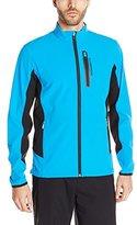 J. Lindeberg Men's Stretch Soft Shell Golf Jacket, Navy/Purple