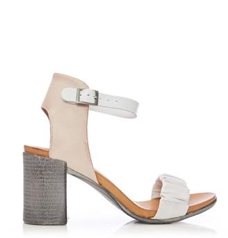 Moda In Pelle Linnie White-Nude Leather
