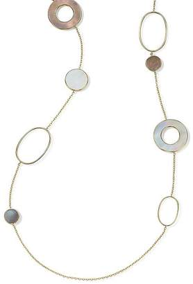 Ippolita 18K Yellow Gold Polished Rock Candy Mother-of-Pearl Doublet Station Necklace, 37""