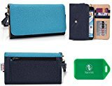 QMobile A700 , QMobile A750 Wristlet wallet phone holder with Card slots and Coin Pocket