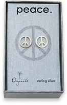 Peace Stud Sterling Silver Earrings