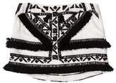 Twelfth Street By Cynthia Vincent Fringe-Trimmed Mini Skirt