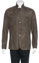 John Varvatos Suede Lightweight Jacket