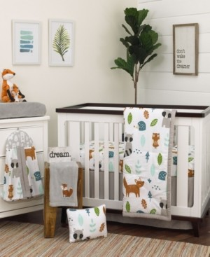 NoJo Woodland Friends 8-Piece Crib Bedding Set Bedding