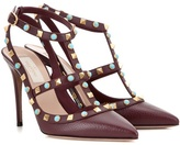 Valentino Garavani Rockstud Rolling Leather Pumps