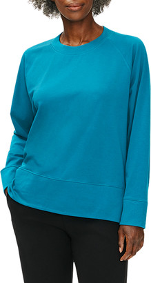 Eileen Fisher Plus Size Organic Cotton Stretch Round Neck Top