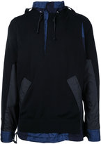 Sacai knitted cagoule sweater - men - Cotton - 2