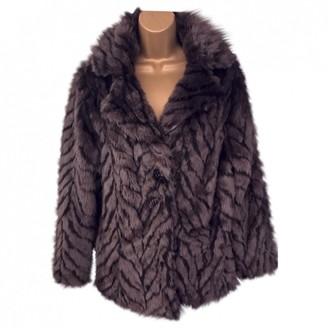 Aquascutum London Brown Faux fur Coat for Women