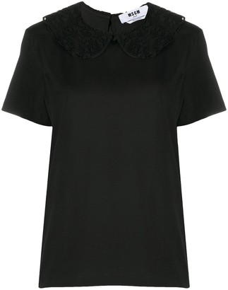 MSGM lace Peter-Pan collar blouse