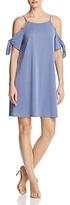 Aqua Cold Shoulder Tie Sleeve Dress - 100% Exclusive