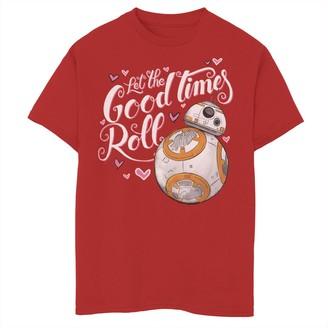 Star Wars Boys 8-20 Valentines Good Times Roll Hearts Tee