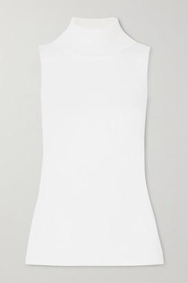 REMAIN Birger Christensen Mantova Ribbed Cotton-blend Turtleneck Top - Ivory