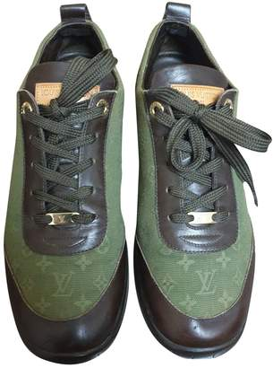 Louis Vuitton Green Cloth Trainers