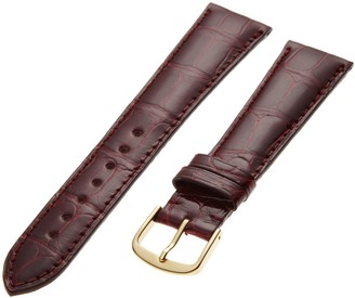 Hadley Roma Hadley-Roma Men's MS2007RA-190 19mm Black Genuine Alligator Leather Watch Strap