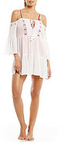 Gianni Bini Solid Cold Shoulder Dress Cover-Up
