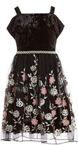 Xtraordinary Big Girls 7-16 Velvet/Embroidered Fit-And-Flare Dress