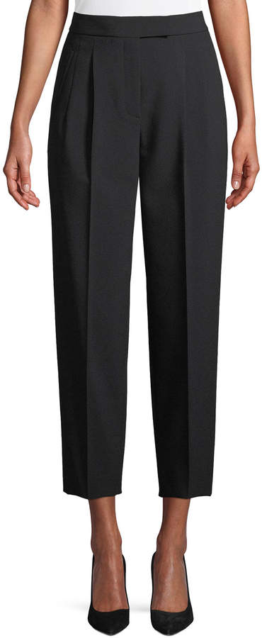 Theory City Pants Tapered-Leg Cropped Prospective Light Pants