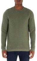 Topman Men's Weave Textured Sweater