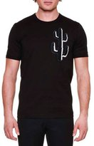 Dolce & Gabbana Cactus-Print Crewneck T-Shirt, Black