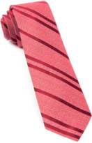 The Tie Bar Red Wool Path Stripe Tie