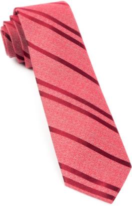 Tie Bar Wool Path Stripe Red Tie
