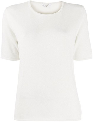 Agnona metallized knitted T-shirt