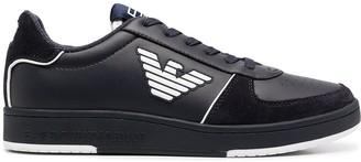 EA7 Emporio Armani Logo-Print Low-Top Sneakers