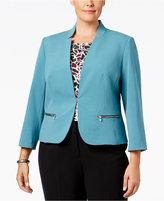 Nine West Plus Size Taylor Zip-Pocket Blazer