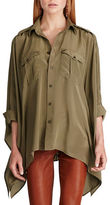 Polo Ralph Lauren Silk Poncho Shirt