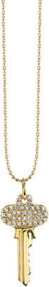 Sydney Evan 14k Small Key Charm Necklace w/ Diamonds
