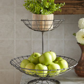 Laurel Foundry Modern Farmhouse 2 Tier Wire Fruit Round Bowl