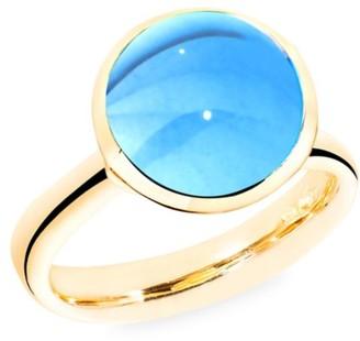 Tamara Comolli Large Bouton 18K Yellow Gold & Swiss Blue Topaz Ring