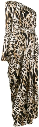 Alexandre Vauthier Leopard Print Evening Dress