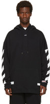 Off-White Black Diagonal Arrows Over Hoodie
