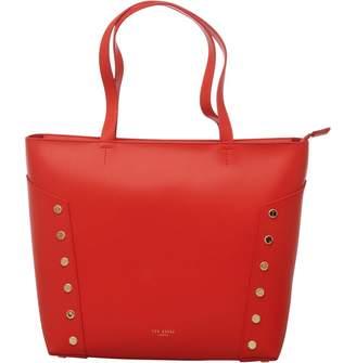Ted Baker Womens Tamiko Studded Edge Shopper Bag Bright Red