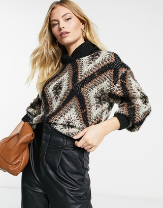 Vila jumper in multi print