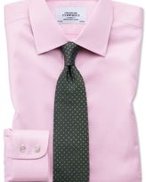 Charles Tyrwhitt Slim fit non-iron puppytooth light pink shirt