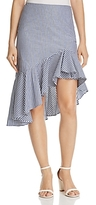 Aqua Asymmetric Ruffled Skirt - 100% Exclusive