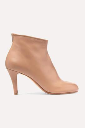 Maison Margiela Split-toe Leather Ankle Boots - Beige