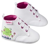 Gerber Infant Girls' Frog Sneaker Bootie - White