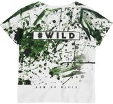 River Island Mini boys white splattered camo T-shirt
