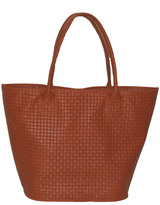 Mei Vintage Woven Leather Tote