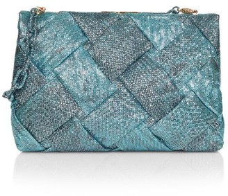Nancy Gonzalez Small Woven Karung Frame Clutch