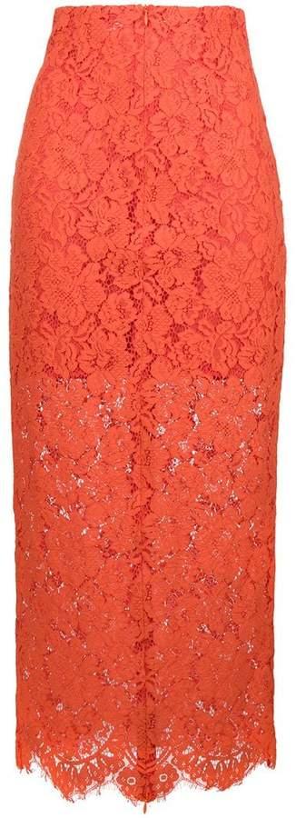 Ganni layered lace skirt