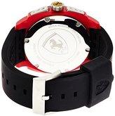 Ferrari Scuderia 0830121 Aerodinamico Black Red Rubber Watch