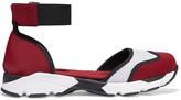 Marni Cutout mesh-paneled neoprene sneakers
