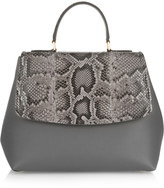 Dolce & Gabbana Margarita python and leather tote